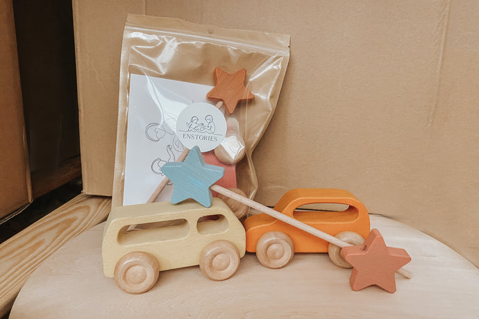Wooden Car & Star Goodie Bags - Available in Sets of Party Packs