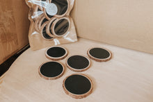 Load image into Gallery viewer, Rustic Chalkboard Wooden Disks