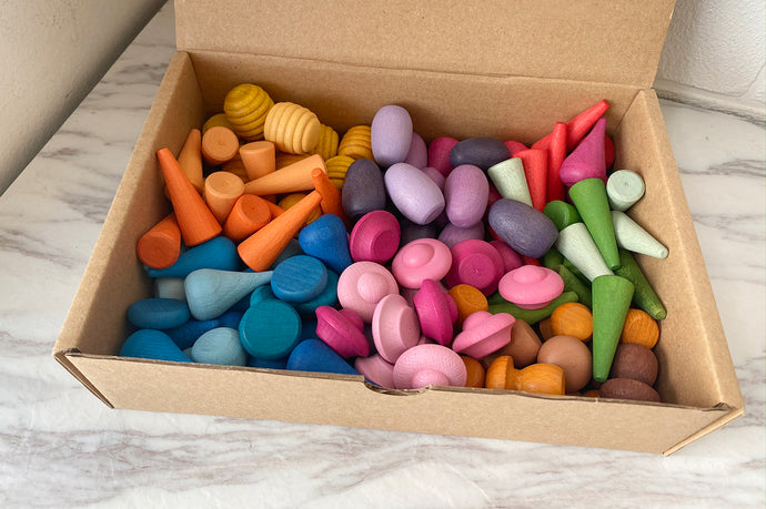 *INSTOCKS* Coloured Loose Parts Set - Half Set