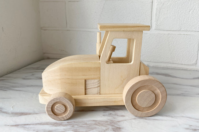*INSTOCK* Wooden Tractor with Paint