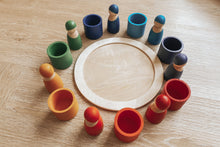 Load image into Gallery viewer, Rainbow Peg Doll with Sorting Cups & Tray