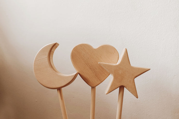 Upsized Fairy Wands - Heart, Star and Moon