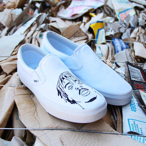 """Juice Wrld"" Slip-on Vans"