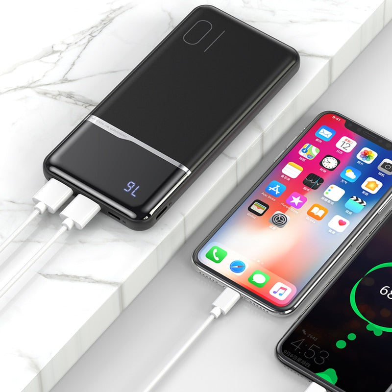 Batterie de recharge externe visualisation charge 10000mAh - bizness-pro