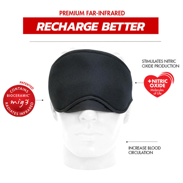 Invel Therapeutic Recharge Eye Mask with Bioceramic MIG3 Far-Infrared Technology invel far-infrared