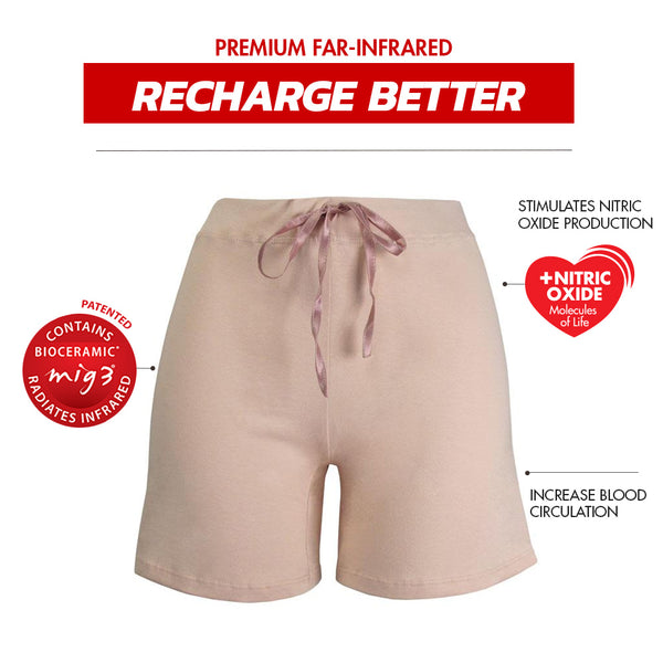 Invel® Therapeutic Recharge Sleepwear Shorts with Bioceramic MIG3® Far-Infrared Technology invel far-infrared