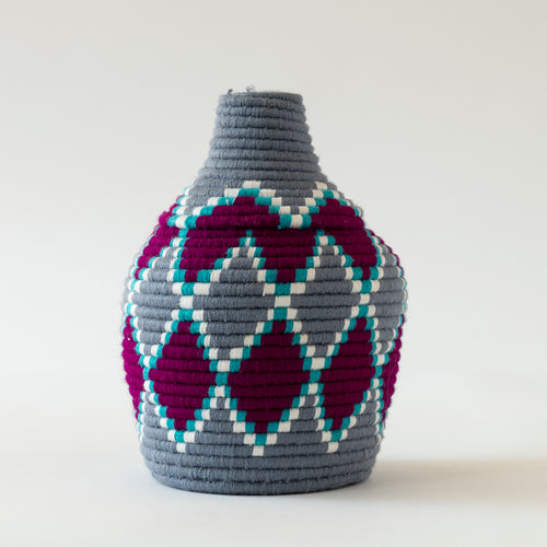 Fabric Woven Moroccan Basket