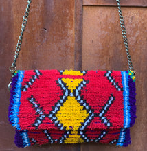 Load image into Gallery viewer, Vintage Rug Purse-Primary Fun