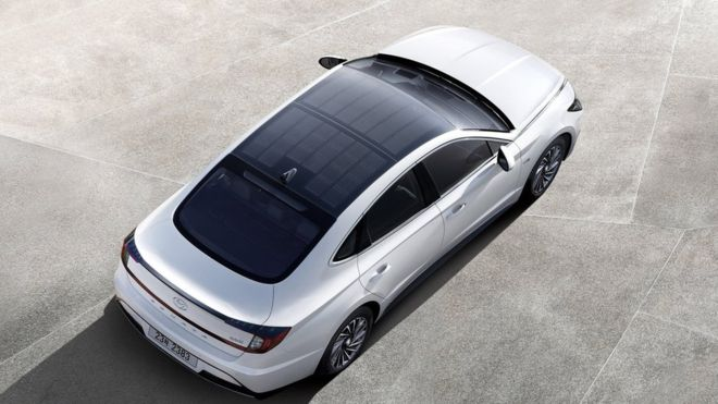 Hyundai releases car with solar panel roof