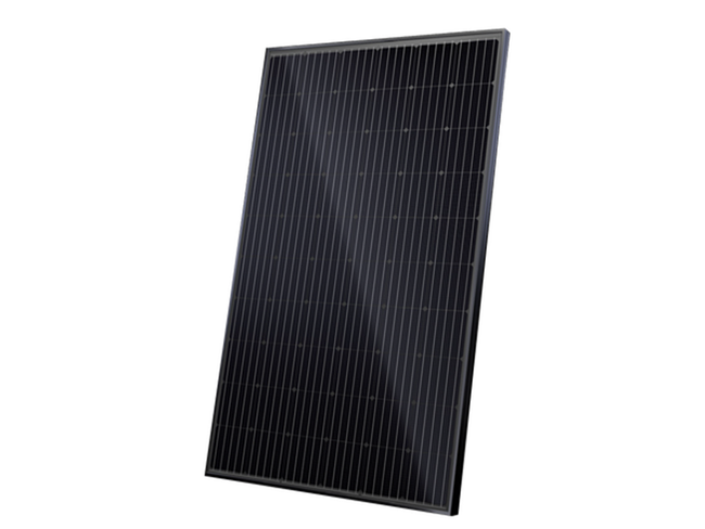 325W All Black Solar Panel - JA Solar Mono MBB Percium Half-Cell All Black