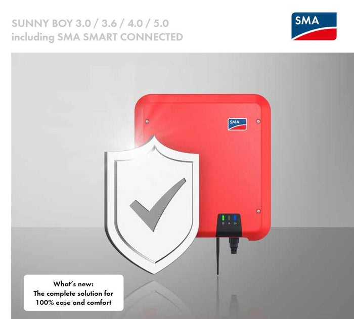 SMA Sunny Boy 3.6kW Solar Inverter - Single Phase - 2 MPPT with Smart Connect