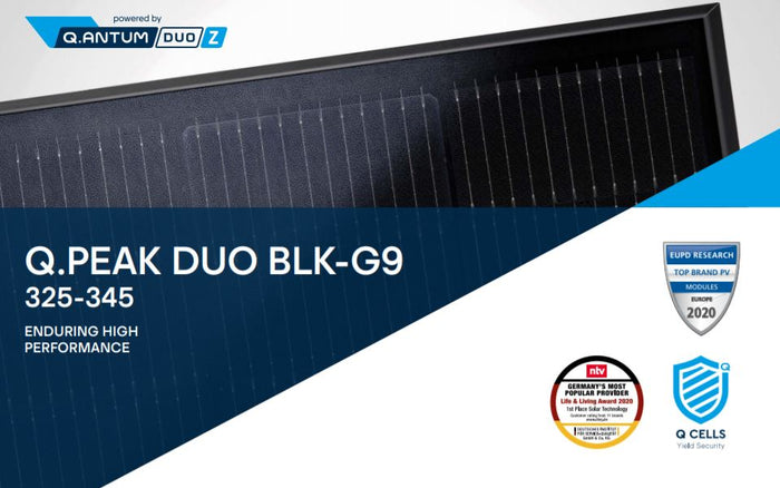 335W Q Cells Mono Q Peak Duo G9 All Black MC4