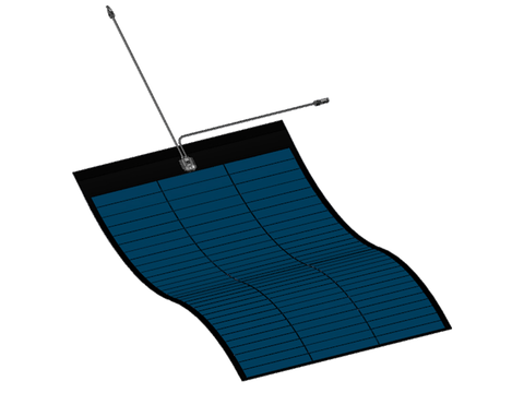 380W Miasole Peel-and-Stick Flexible Solar Panel - ideal solar panel for boats & caravans