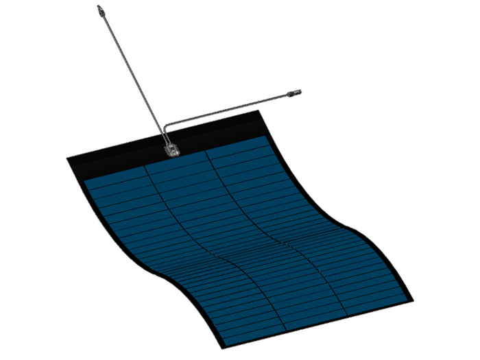 490W Miasole Peel-and-Stick Flexible Solar Panel - ideal solar panel for boats & caravans