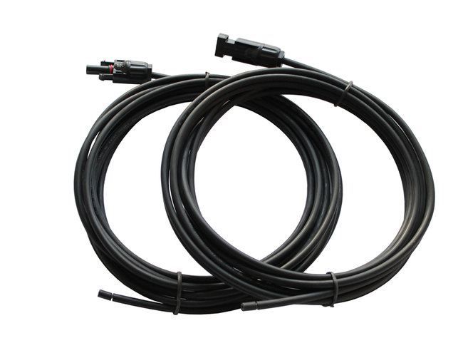 Pair of 4mm2 solar cables with MC4 connectors 5m long
