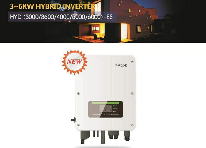 SoFar 6kW HYD 6000-ES Hybrid Inverter for solar battery storage - I.T.S Technologies