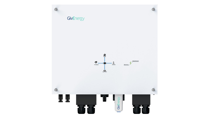 GivEnergy 5kW Hybrid PV Battery Inverter charges from the grid, IP65