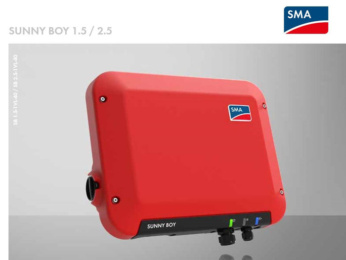 SMA Sunny Boy 1.5kW Solar Inverter - Single Phase - 1 MPPT