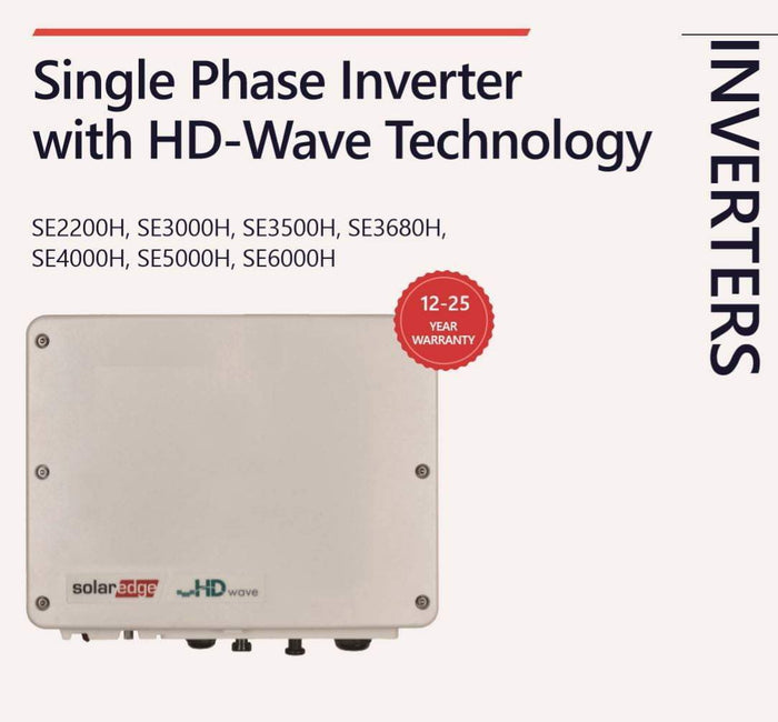 SolarEdge 5000W Single Phase HD Wave Inverter NO DISPLAY - I.T.S Technologies