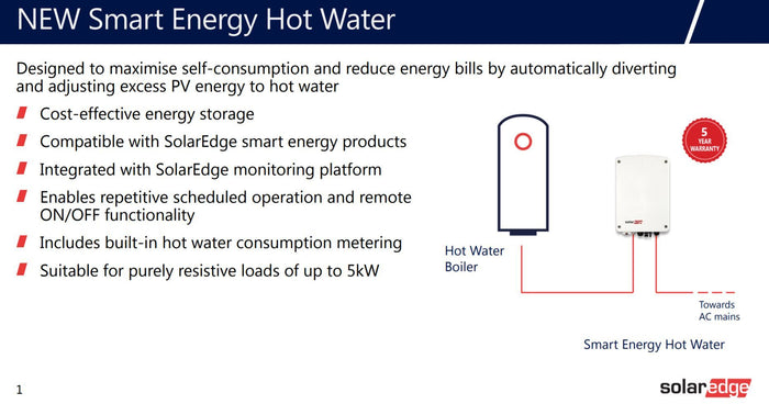 SolarEdge Smart Energy Hot Water - Immersion Heater Controller