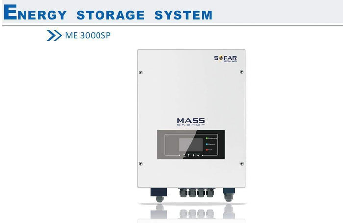 SoFar Solar ME3000SP AC battery storage controller - charge batteries from Economy 7 - I.T.S Technologies