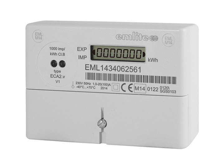 Emlite 1-ph Bi-Directional generation meter 100A (1000 pulse/kWh)