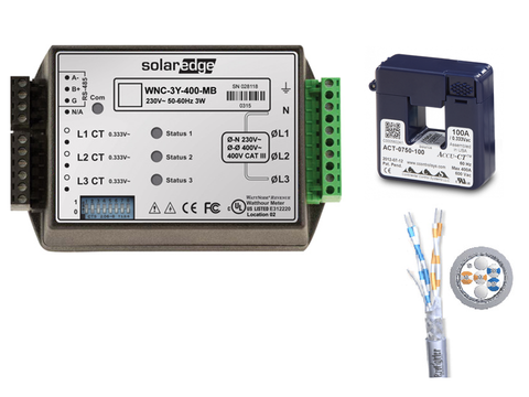 SolarEdge Power Management package <100A grid supply Energy Meter K2 with Modbus Connection