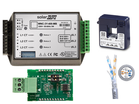 Solaredge Power management package for up to 250A grid supply with Modbus Connection