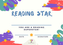 Load image into Gallery viewer, Reading Certificates - Reading Star, Coloured