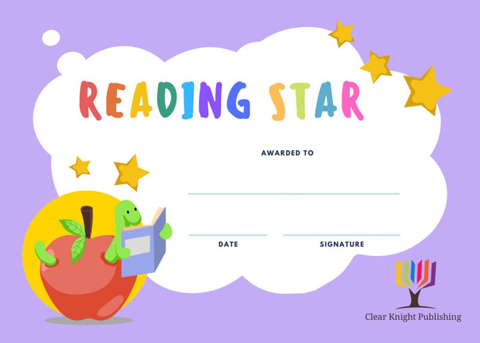 Reading Certificates - Reading Star, Book Worm