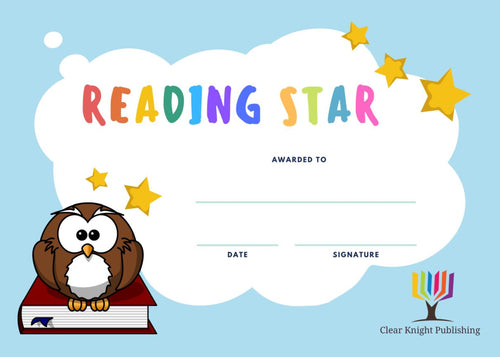 Reading Certificates - Reading Star, Owl