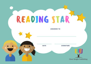 Reading Certificates - Reading Star, Boy and Girl