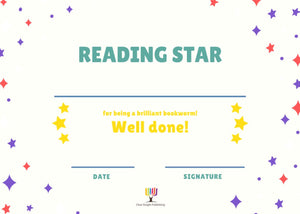 Reading Certificates - Reading Star, Stars