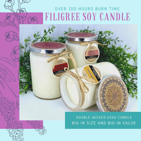 Stevie Buoy Filigree Soy Candle
