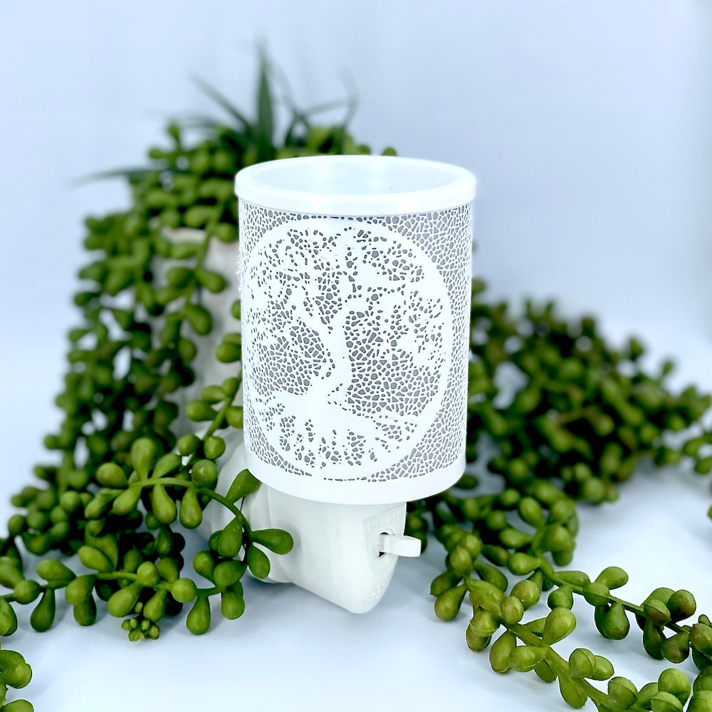 Enchanted Tree Plug In Wax Warmer - White