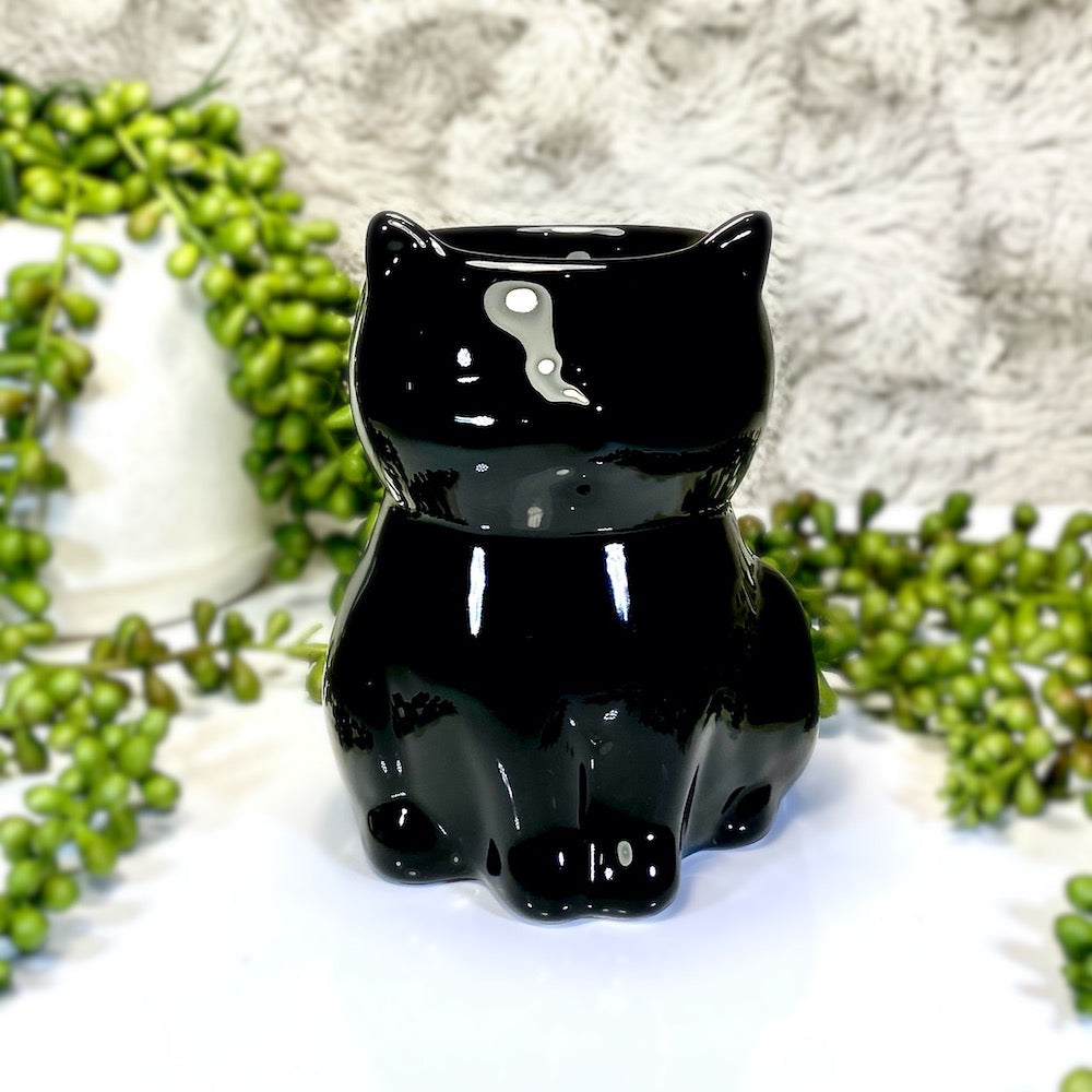Black Cat Tea Light Warmer