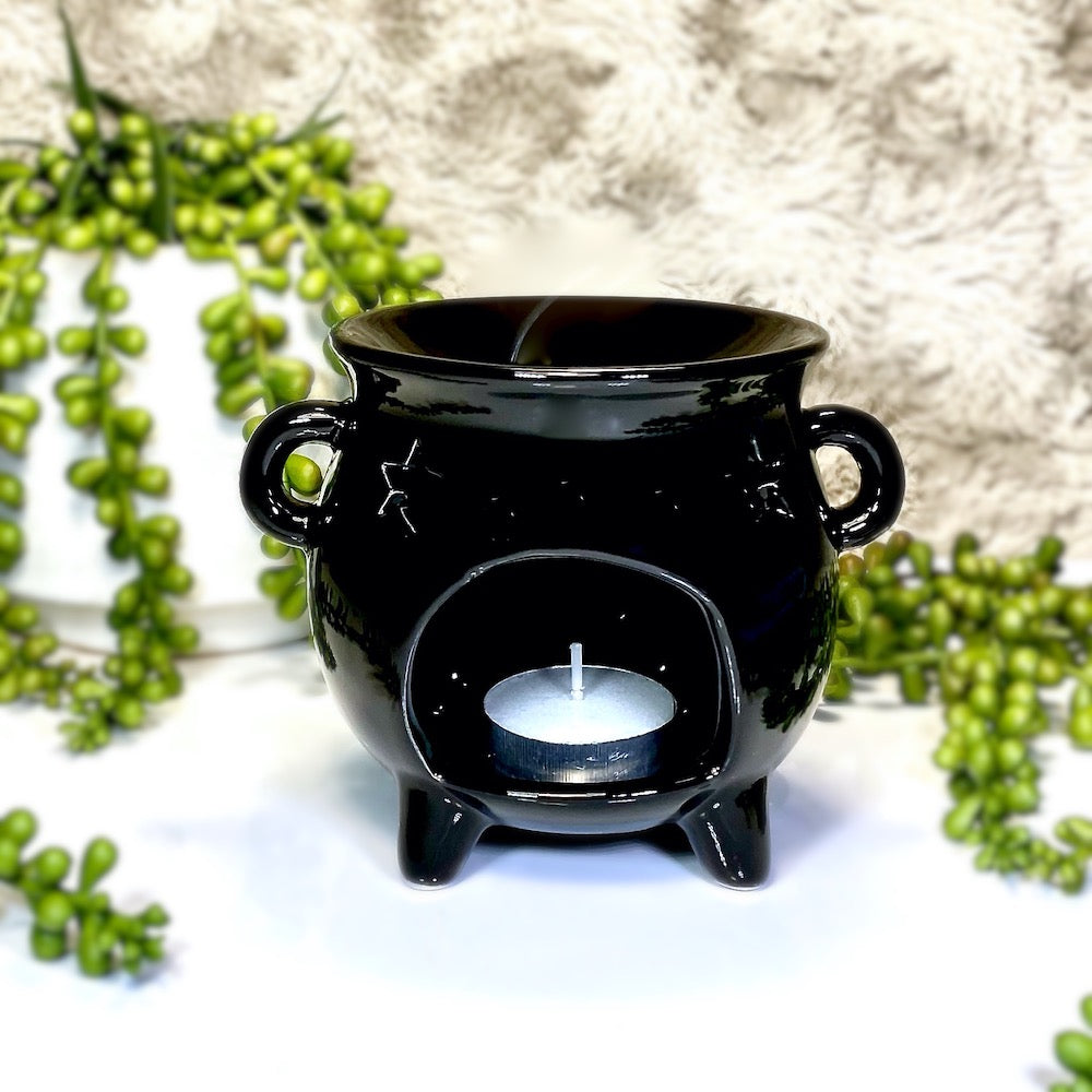 Black Cauldron Tea Light Warmer