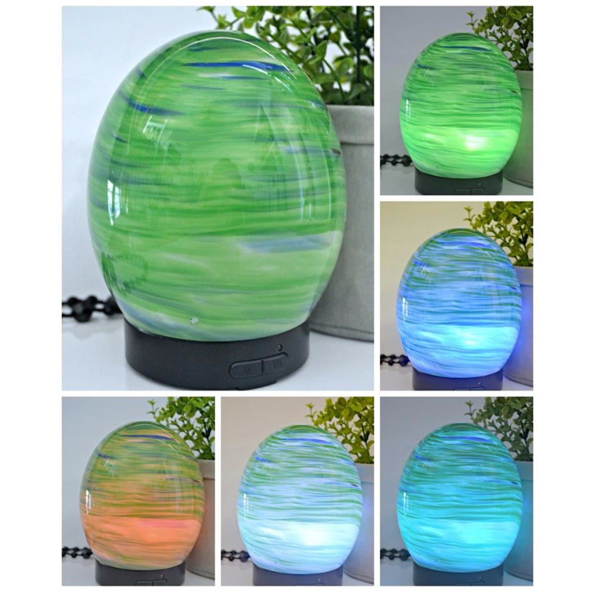 Glass Egg Ultrasonic Diffuser - Green
