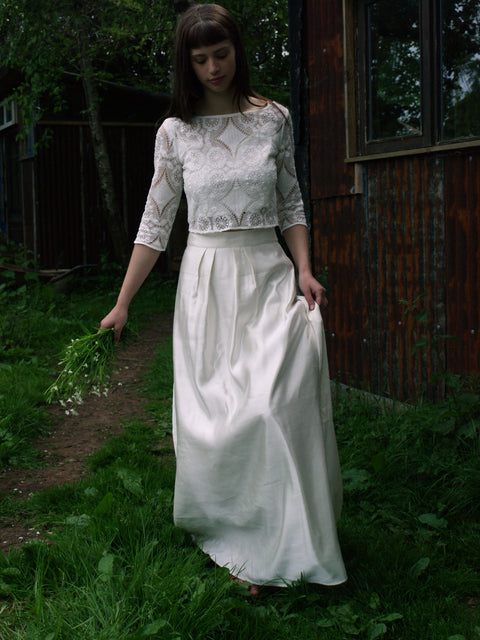 eco-wedding dress made in england