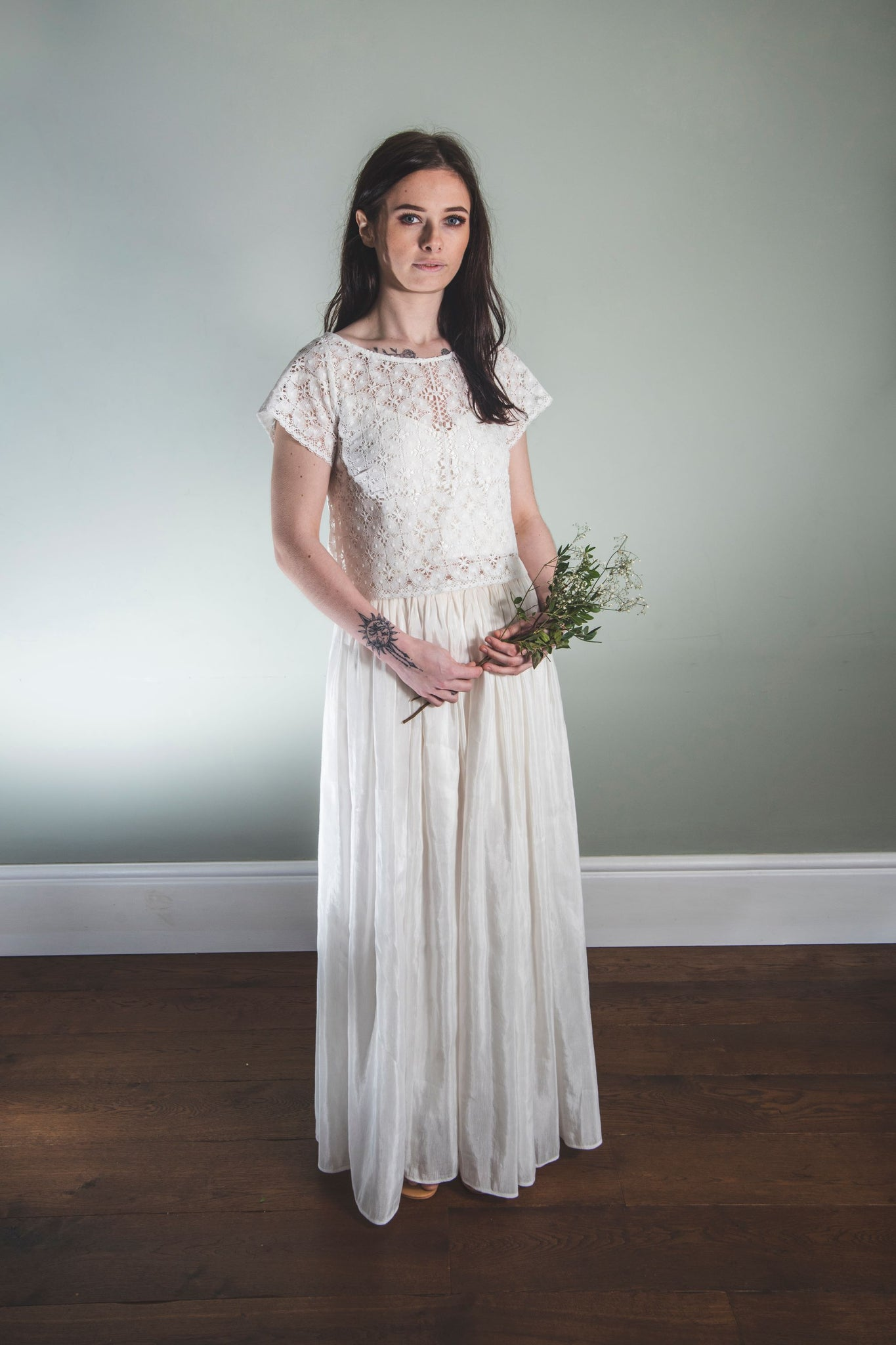 Bridal Skirt - Long skirt in hemp silk, 'Lola'