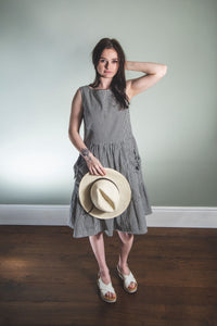 Gingham organic cotton day dress
