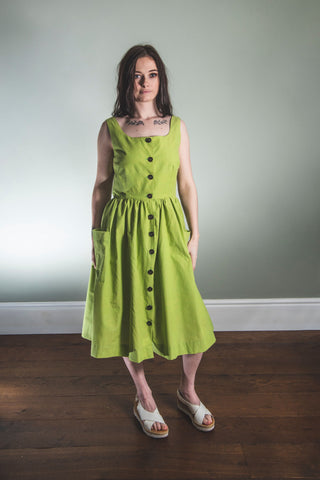 chartreuse organic cotton sundress