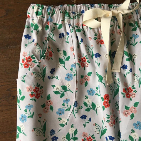 Floral print organic cotton pyjama trousers