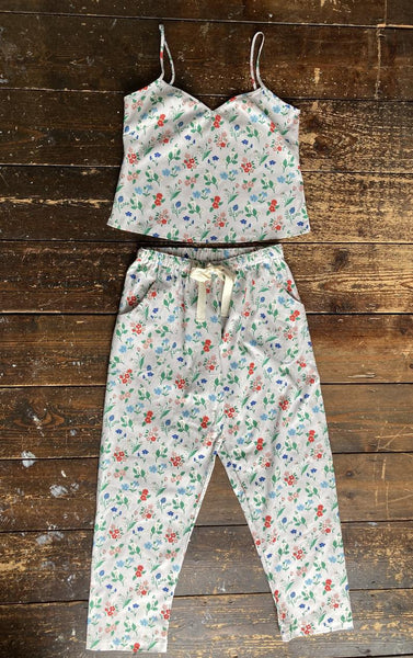 Floral print organic cotton summer pyjama set