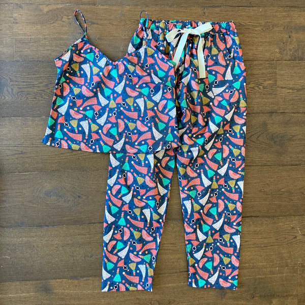 Tassel print organic cotton summer pyjama set