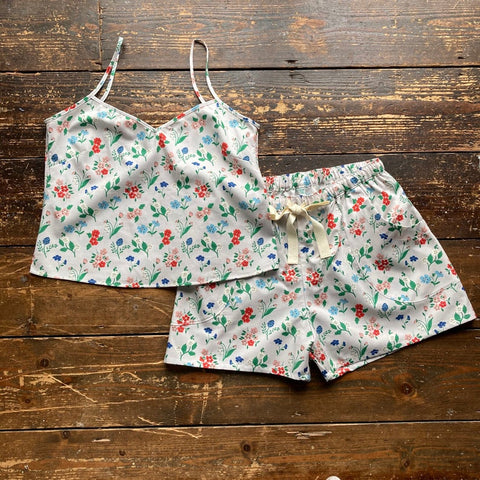 Floral print organic cotton summer PJ set