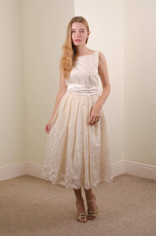 Organic cotton wedding dress 'Katie'