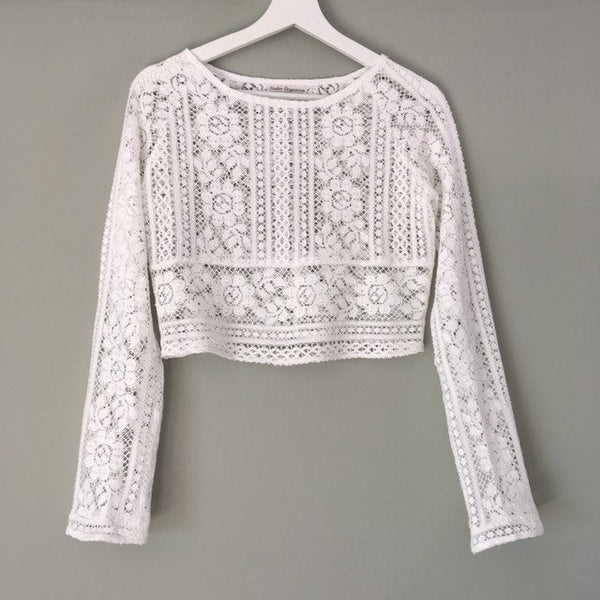 long sleeve cotton lace Top, 'Lola'