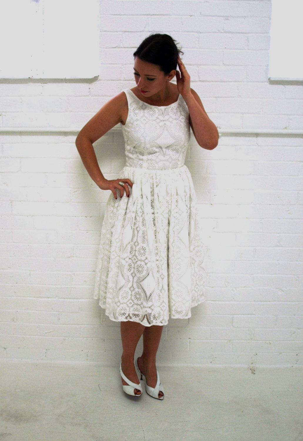 'Alice' dress, cotton lace wedding dress