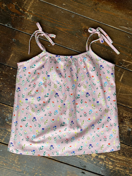 pink spring flowers organic cotton pyjama set